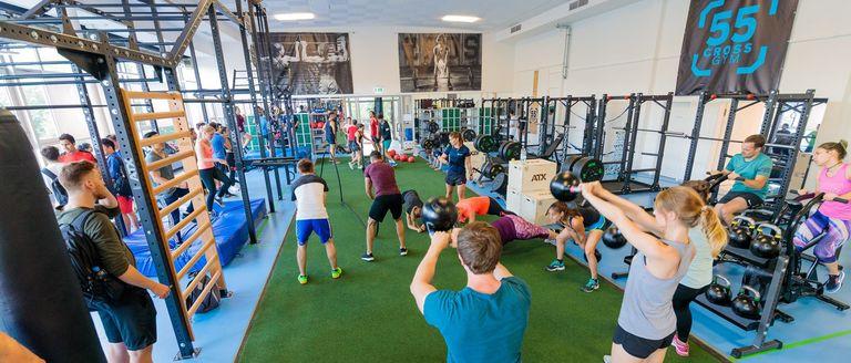55 cross gym
